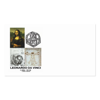 Leonardo da Vinci Genius (Great Works) Collage Double-Sided Standard Business Cards (Pack Of 100)