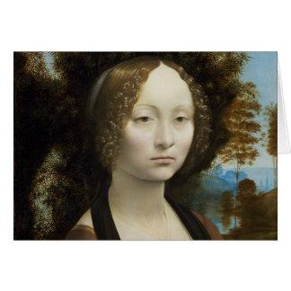 Leonardo Da Vinci Ginevra De' Benci Card