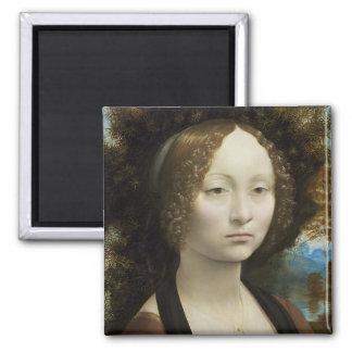 Leonardo da Vinci Ginevra de' Benci Imán Cuadrado