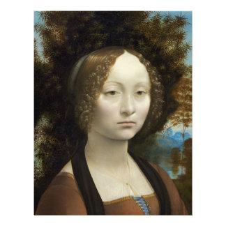 Leonardo da Vinci Ginevra de' Benci Membrete A Diseño
