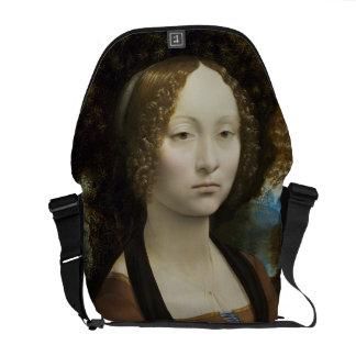 Leonardo Da Vinci Ginevra De' Benci Messenger Bag