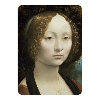 Leonardo Da Vinci Ginevra De' Benci Painting Card