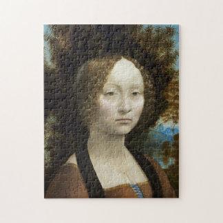 Leonardo Da Vinci Ginevra De' Benci Painting Jigsaw Puzzle