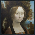 "Leonardo Da Vinci Ginevra De&#39; Benci Painting Napkin<br><div class=""desc"">Leonardo Da Vinci Ginevra De&#39; Benci Fine Art Painting Ginevra de' Benci was an aristocrat from fifteenth-century Florence, admired for her intelligence by Florentine contemporaries. She is the subject of a portrait painting by Leonardo da Vinci. The oil-on-wood portrait was acquired by the National Gallery of Art in Washington, D.C.,...</div>"