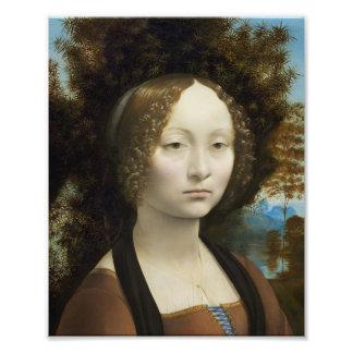 Leonardo Da Vinci Ginevra De' Benci Painting Photo Print