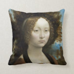Leonardo Da Vinci Ginevra De' Benci Painting Pillow