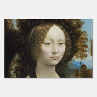 Leonardo Da Vinci Ginevra De' Benci Painting Sign