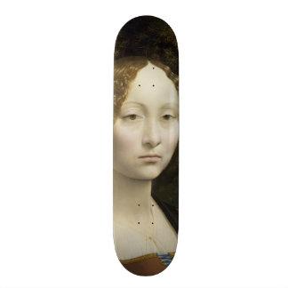 Leonardo Da Vinci Ginevra De' Benci Painting Skateboard Deck