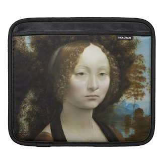 Leonardo Da Vinci Ginevra De' Benci Painting Sleeves For iPads