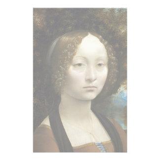 Leonardo Da Vinci Ginevra De' Benci Painting Stationery