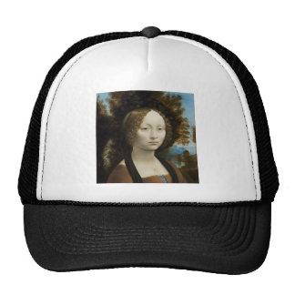 Leonardo Da Vinci Ginevra De' Benci Painting Trucker Hat