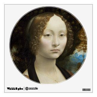 Leonardo Da Vinci Ginevra De' Benci Painting Wall Sticker
