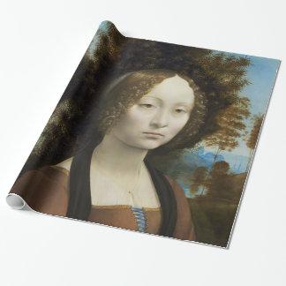 Leonardo Da Vinci Ginevra De' Benci Painting Wrapping Paper