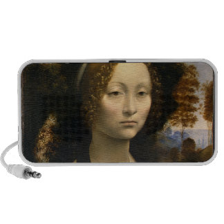 Leonardo Da Vinci - Ginevra De' Benci Paintings Mini Speaker