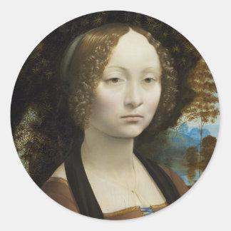 Leonardo Da Vinci Ginevra De Benci Stickers