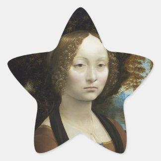 Leonardo Da Vinci Ginevra De Benci Star Sticker