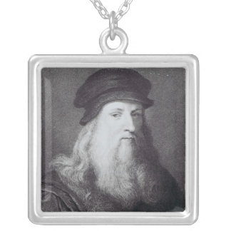 Leonardo da Vinci, grabado por el Raphael Colgante Cuadrado