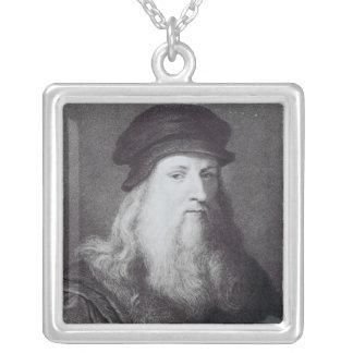 Leonardo da Vinci, grabado por el Raphael Pendientes Personalizados