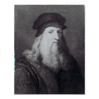 Leonardo da Vinci, grabado por el Raphael Posters