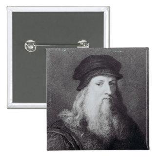 Leonardo da Vinci, grabado por el Raphael Pin