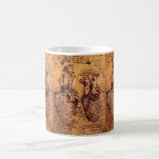 Leonardo da Vinci Heart Mug
