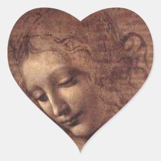 Leonardo Da Vinci Heart Sticker