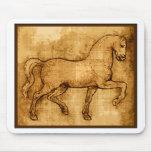 Leonardo Da Vinci Horse Art Mouse Pad