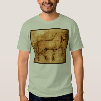 Leonardo Da Vinci Horse Art T Shirts
