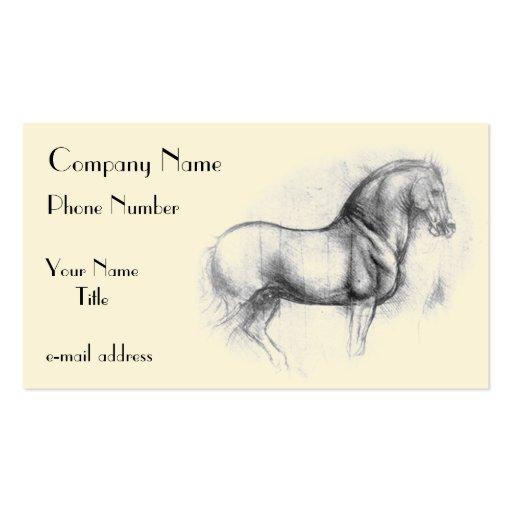 Leonardo-da-Vinci-horse Business Card Template