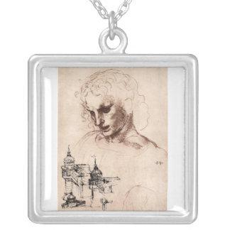 Leonardo da Vinci - Jacobus Maior Square Pendant Necklace