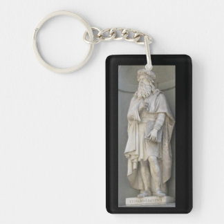 Leonardo da vinci Key Ring Single-Sided Rectangular Acrylic Keychain