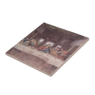 Leonardo DA Vinci- la última cena Azulejo Cuadrado Pequeño