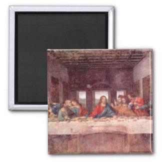 Leonardo da Vinci - la última cena Imán Cuadrado