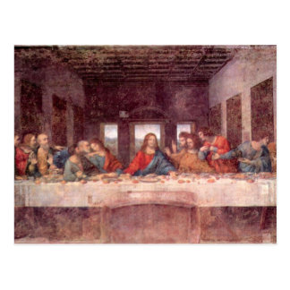 Leonardo da Vinci - la última cena Tarjeta Postal