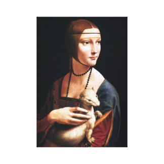 Leonardo Da Vinci Lady with an Ermine Canvas Wrap