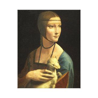 Leonardo Da Vinci Lady With An Ermine Fine Art Canvas Print