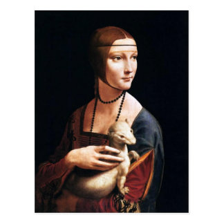 Leonardo Da Vinci Lady with an Ermine Postcard
