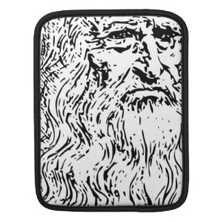 Leonardo da Vinci Line Drawing Sleeve For iPads