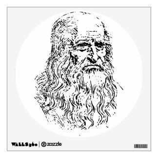 Leonardo da Vinci Line Drawing Wall Sticker