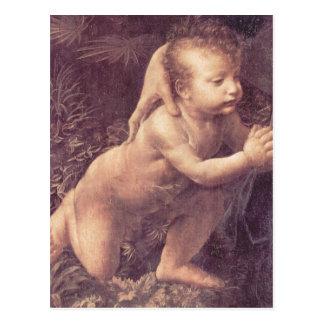 Leonardo da Vinci Madonna en el der Felsengrotte,  Postal