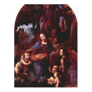 Leonardo da Vinci - Madonna en la cueva de la roca Postal