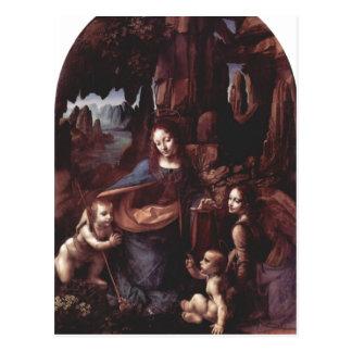 Leonardo da Vinci Madonna in der Felsengrotte 1503 Postcard