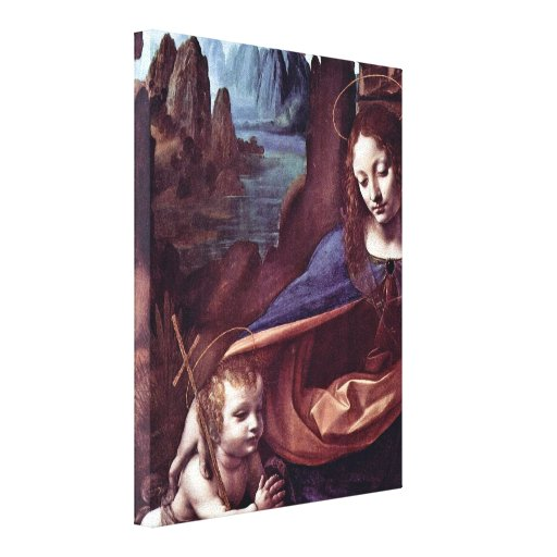 Leonardo da Vinci - Mary and Christ Canvas Print