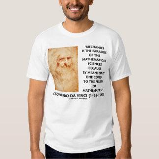 Leonardo da Vinci Mechanics Mathematical Sciences T Shirt