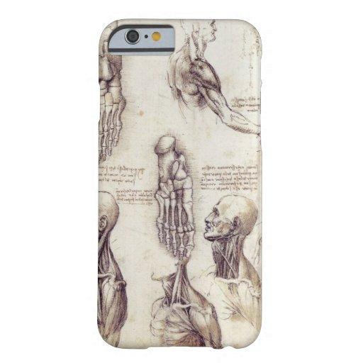 Leonardo Da Vinci Medical sketches, body parts iPhone 6 Case