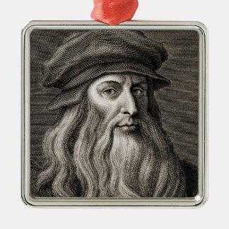 Leonardo da Vinci Metal Ornament