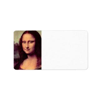 Leonardo da Vinci - Mona Lisa (Detail) Label
