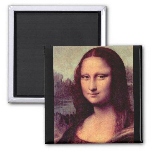 Leonardo da Vinci - Mona Lisa (Detail) Magnets
