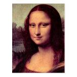 Leonardo da Vinci - Mona Lisa (Detail) Postcard