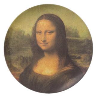 Leonardo Da Vinci' Mona Lisa Dinner Plate